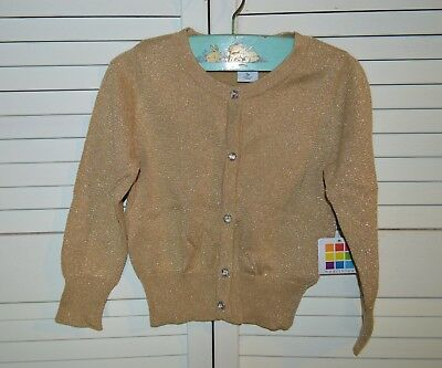 NWT! Healthtex gold glittery button up cardigan - size 3T