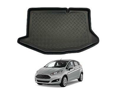 Tailored Fit Black Boot Liner Tray Car Protector Mat for Ford Fiesta MK7 (09-16)