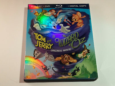 Tom and Jerry The Wizard of Oz (Blu-ray/DVD, 2011, 2-Disc Set) w/ Slipcover