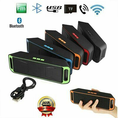 Portable Shockproof FM Stereo Wireless Bluetooth Rechargable Speaker for Phone