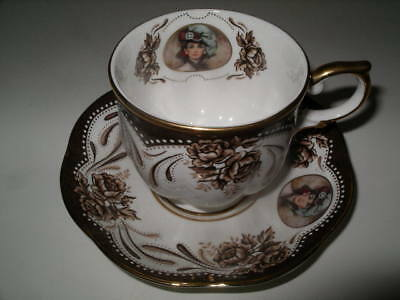 Avon 1999  Honor Society Mrs. Albee Teacup and Saucer Block China Tailand!