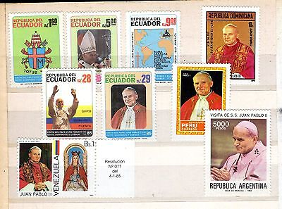 > South America - Visits Of John Paul Ii - Stamps Mnh** See Description