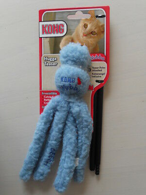 Kong Wubba Hugga Teaser Cat Toy - Blue