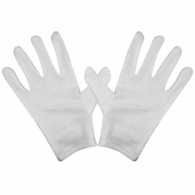 8 Pc Thin Protective Handling Cotton Gloves For Film Artwork Coins CD DVD White