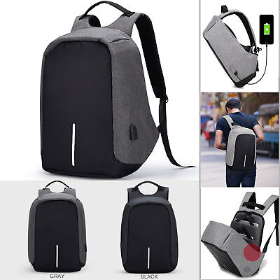 Anti Theft Business Laptop Bags School Bag Travel Backpack with USB Charger Port