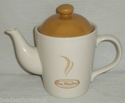 Tim Hortons Teapot Coffee Pot Advertising 16 Oz Canada Always Fresh