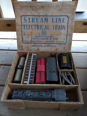 Marx 7844 Stream Line Electrical Train Remote Control With Box & Other Pieces