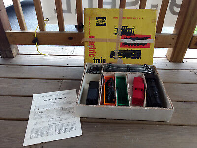 Old Vtg Allstate No. 9715 Electric Train Set Remote Control With Box Made In USA