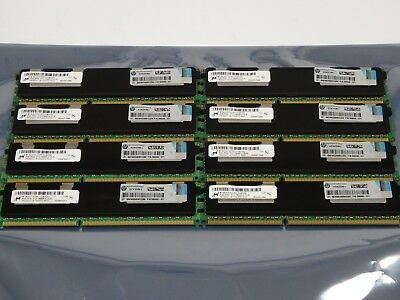 64GB Kit 8x 8GB PC3 - 10600R DDR3-1333 HP Server Ram P/N: 500205-071