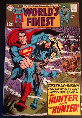 World's Finest Comics #181 (Dec 1968, DC) 7.0 FN/VF, SUPERMAN, BATMAN