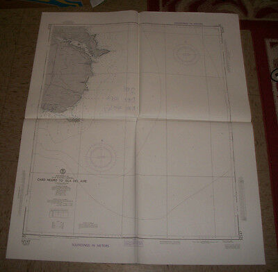 1983 US Defense Mapping Agency Nautical Map of Cabo Negro To Island Del Aire