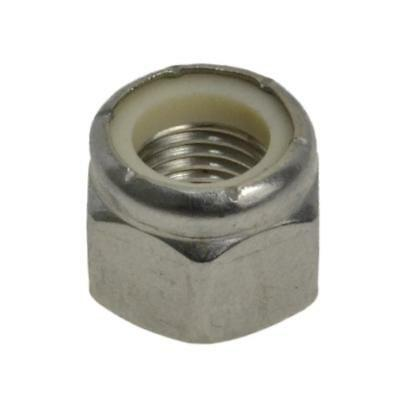 """G304 Stainless Steel 1/2"""" UNF Imperial Fine Hex Nyloc Insert Nut"""