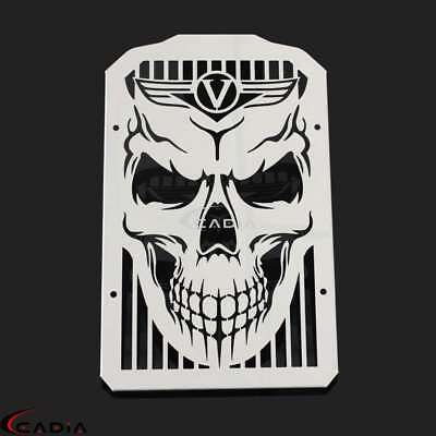 Skull Radiator Grill Guard Protector For Kawasaki VN900C Vulcan 900 Custom 07-14