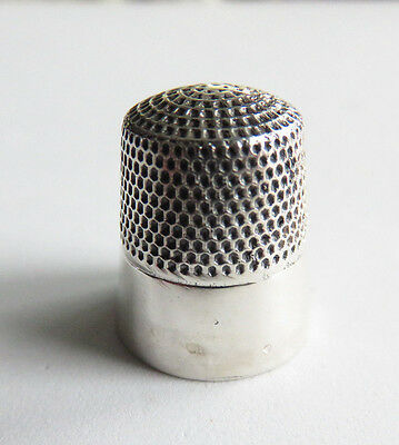Very Nice Antique Sterling Siilver Heavy Thimble