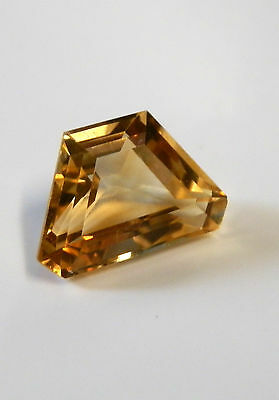 Natural citrine free-form gemstone..4.3 Carat...13.6 x 9 x 6.7  mm gem