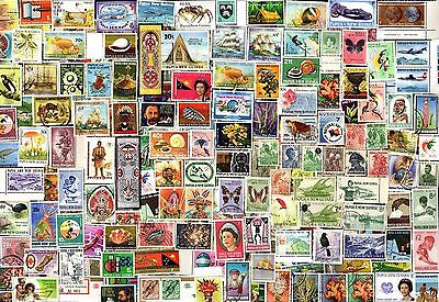 225 PAPUA NEW GUINEA (ALL YEARS) All Different Stamps (C$80)