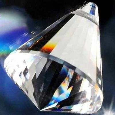 10 Clear Chandelier Glass Crystals Lamp Prisms Parts Hanging Drops Pendants 40mm