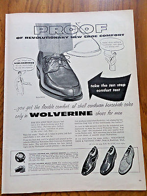 1956 Wolverine Horsehide Pigskin Shoes Ad