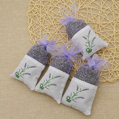 Real Lavender Organic Dried Flower Sachets Bag Fragrance Home Decor Fresh Scent