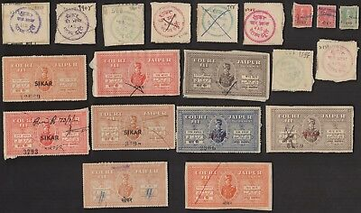 20 SIKAR (INDIAN STATE) All Different Stamps (c80)