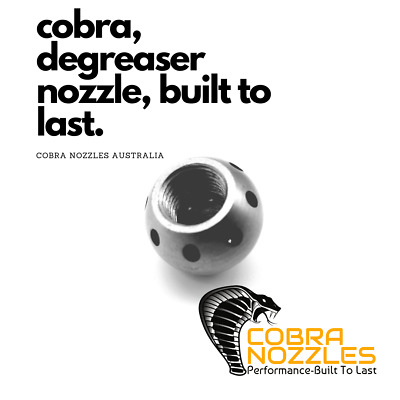 Degreaser Nozzle 1/4'' 20LPM UP - GENUINE COBRA JETTING, JETTER PLUMBERS NOZZLES