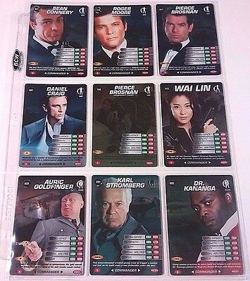 James Bond 007 Spy Cards Lot 56 Total 14 Foils Trading Card Game 2008 Ccg Tcg