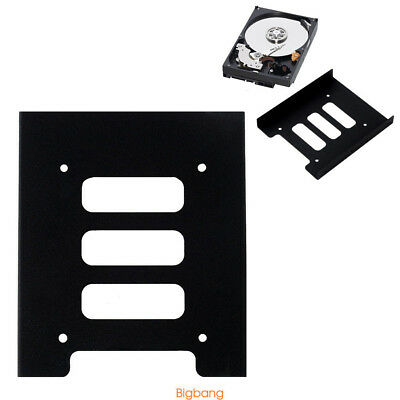 """2.5"""" SSD HDD To 3.5""""Metal Mounting Adapter Bracket PC SSD Dock Hard Drive Holder"""