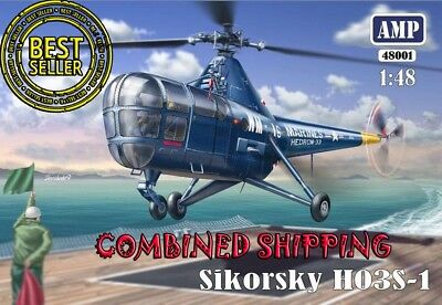 AMP 48001 Helicopter Sikorsky H03S-1 (PE parts, film, mask) plastic kits 1/48