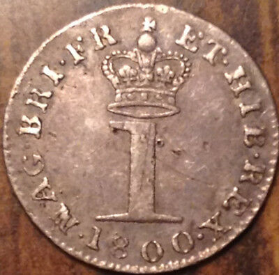 1800 Uk Gb Great Britain Silver Maundy Pence