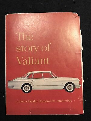 "Vintage 1959 ""Story of the Valiant"" Chrysler Automobile Promotional Booklet"