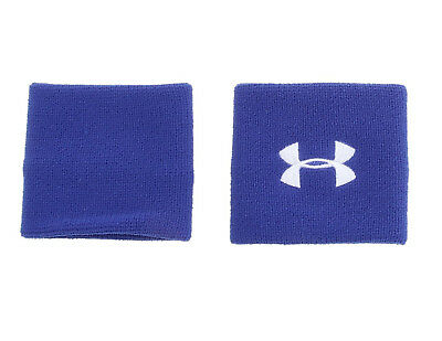 "Under Armour 3"" Wristbands, Royal Blue, OSFM (1218012-400)"