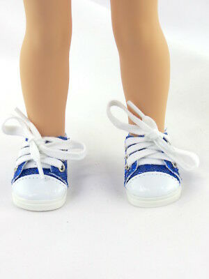"Blue Sequin Sneakers Fits Wellie Wishers 14.5"" American Girl Clothes Shoes"