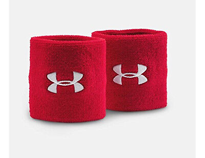 Under Armour 3 Inch Performance Wristband, Red, OSFM