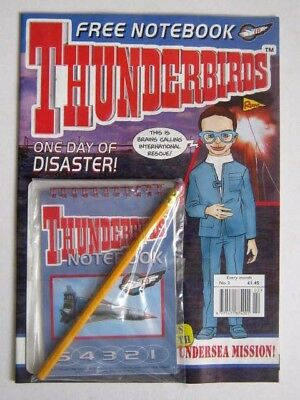 THUNDERBIRDS COMIC # 2. ISSUED by REDAN in 1999 with FREE GIFT STILL ATTACHED.