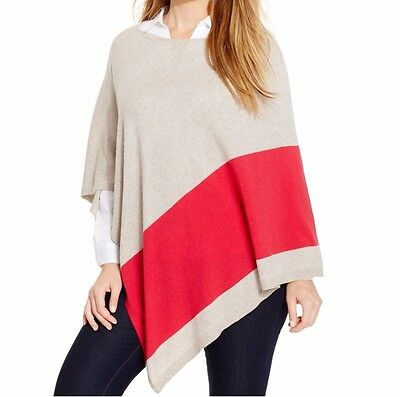 INC International Concepts Petite Poncho Sz PP / PS Truffle Red Modern Casual