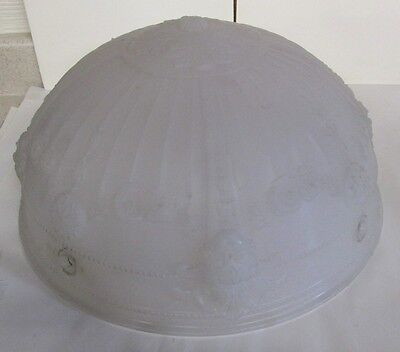 Clambroth Glass Hanging Globe Light Fixture Beautiful Antique An Indy Estate