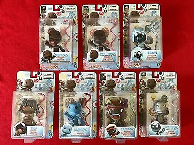 Little Big Planet Figure Lot Of 7 NEW/SEALED Mezco Sackboy Dragon Neon Sky