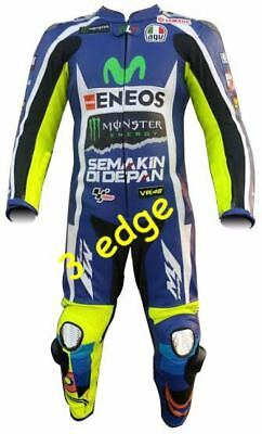 Valentino Rossi VR46 Motorbike Racing Leather Suit Mens and Women All Sizes 2017