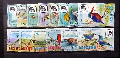 LESOTHO 1981 Birds SG437 to 450 Fine/Used NB3119