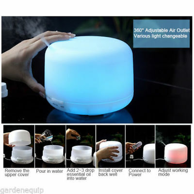 7 Colour 3 LED Humidifier Air Aroma Essential Oil Diffuser Aromatherapy Atomizer