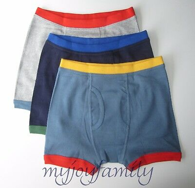 HANNA ANDERSSON Organic Unders Boxer Brief Colorblock XS 80 90 18-24 2T 3T NWT