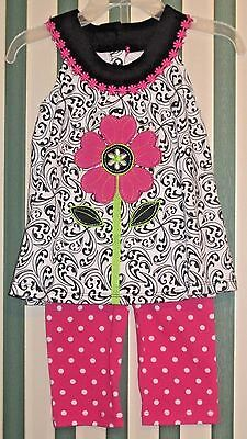 NWT Toddler Girl/'s Kids Headquarters 2 Piece Outfit Top//Bottom Various Styles