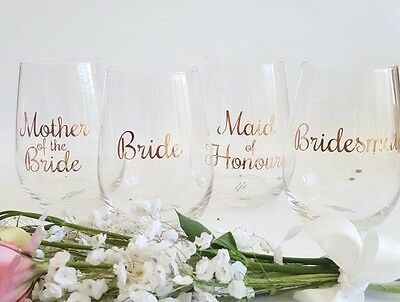 DIY Bridal Party Wine Glass Sticker/Decal - RCH