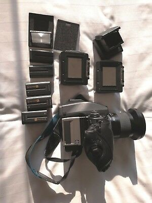 contax 645 camera kit Hasselblad CF39 digital back Zeiss 35mm lens Battery Grip