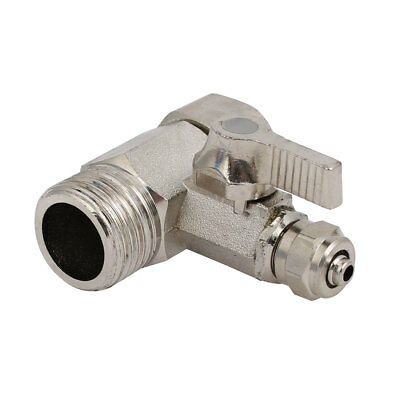 1/2BSP Male Female Thread 1/4-inch Tube 3 Way Quick Connector Water Ball Valve