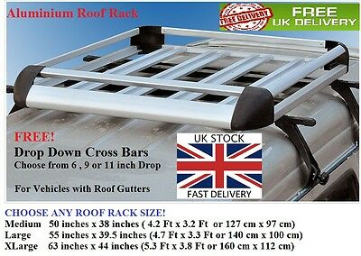 Aluminium roof tray load platform rack expedition boxes Colorado luggage carrier