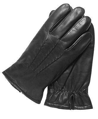 Men's Genuine Smooth Leather Gloves with Thinsulate Lining