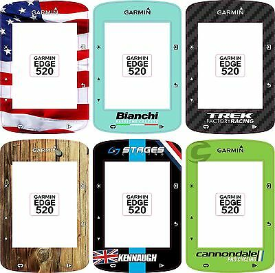 Personalised decal (x4) to fit Garmin Edge 520 Cycle Computers