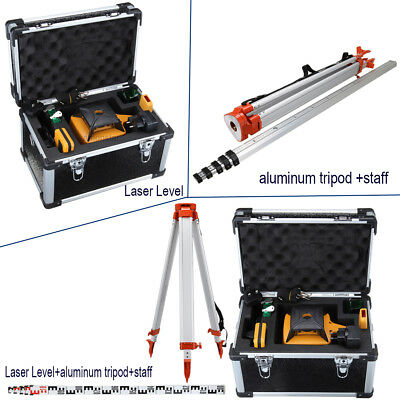 Auto Controlled Beam Self-leveling Rotary Laser Level / aluminum tripod+staff