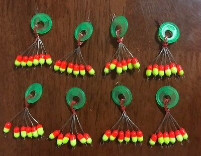 48 X Fishing Strike Indicator Floats Small 10mm*5mm Float Stopper Free Post